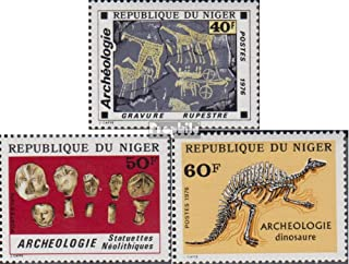 Niger 552-554 (complete.issue.) 1976 Archeology (Stamps for collectors) Mammals