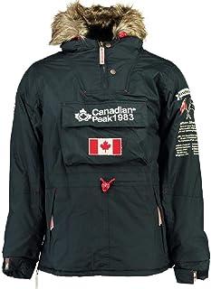 dcf235659 Canadian Peak Abrigo Negra Unisex NIÑO Y NIÑA 10 AÑOS