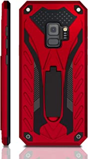 Samsung Galaxy S9 Case, Military Grade 12ft. Drop Tested Protective Case with Kickstand, Compatible with Samsung Galaxy S9 - Red