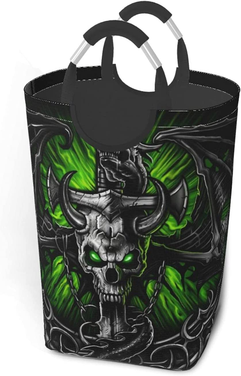 Skull Large Laundry Max 54% OFF Basket Collapsible Clothes Ho For Pack Nippon regular agency Dirty