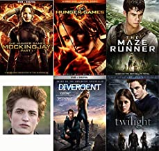 Teen Female Heroes Book To Movie Pack: The Hunger Games (2Dvd/ Digital) , The Hunger Games Mockingjay Part 1(Dvd/ Digital), Divergent (Dvd/ Digital), Twilight (2 Disc Edition), The Maze Runner