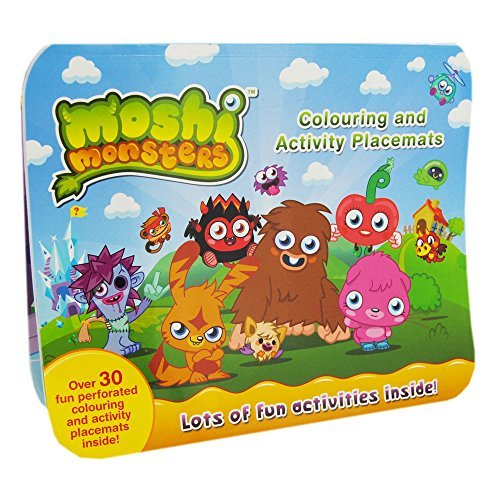 Alligator Books–Set-Tischsets zum Ausmalen, Motiv: Moshi Monsters [Englisch]