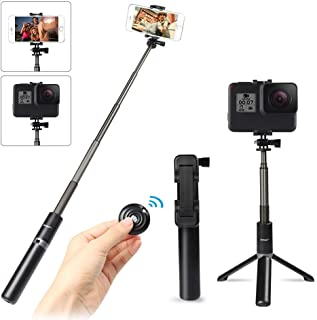 Selfie Stick Tripod with Wireless Bluetooth Remote, Innoo Tech 3 in 1 Extendable Monopod Mini Pocket Aluminum Selfie Stick...