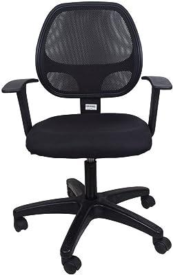 Hetal Enterprises Mesh Low Back Office Chair (Black)