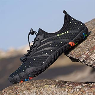 2019 Summer New Quick-Drying Swimming Shoes Couple Breathable Outdoor Wading Five-Finger Beach Shoes (Color : Black, Size : 41)