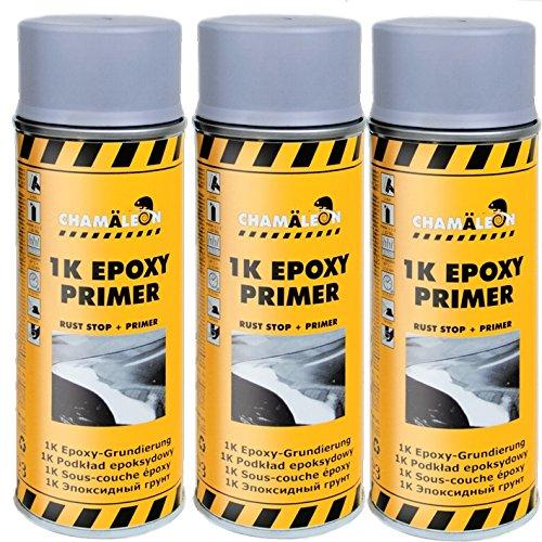 Chamäleon 3 x 400ml 1K Grau Epoxy Primer GRUNDIERUNG Spray KORROSIONSSCHUTZ