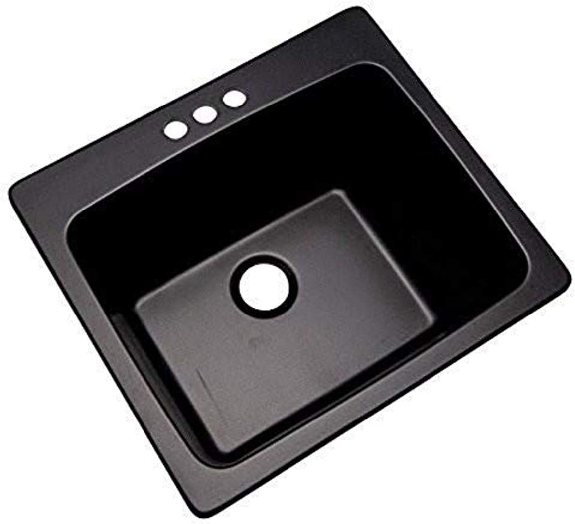 Thermocast 32399nsc Wakefield Composite Utility Sink With Three Holes 25 Inch Black Natural Stone Amazon Com