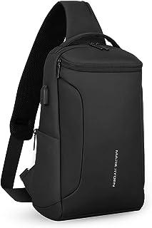 MARK RYDEN ボディバッグ メンズ ワン スポーツショルダー バッグ 斜めがけ 防水 iPad収納可能 USBポート