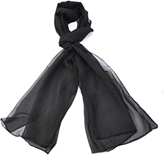 cdc6fdd936af7 Classic Plain Solid Chiffon Scarf Light Weight & SOFT See-Through Semi  Opaque Fabric 47