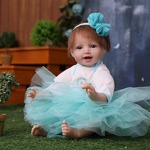 LIDE offene Augen Toddler Prinzessin Reborn Babys Puppe Kinder Spielzeug Geburtstag Geschenke Weißhe Silikon Vinyl Magnetismus Neugeborenes Baby Doll 22 Zoll 55 cm