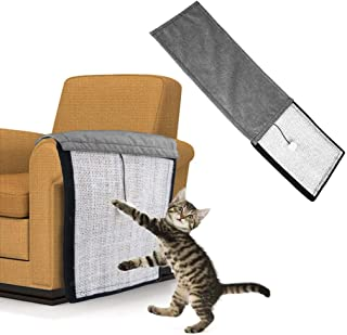 Andiker Cat Scratch Pad,  2 in 1 Use Cat Scratching Mat & Natural Sisal Fabric Sofa Shield Furniture Pad Durable & Washable Cat Scratcher Pad Cover with One Cute Ball (46 11.4 in)