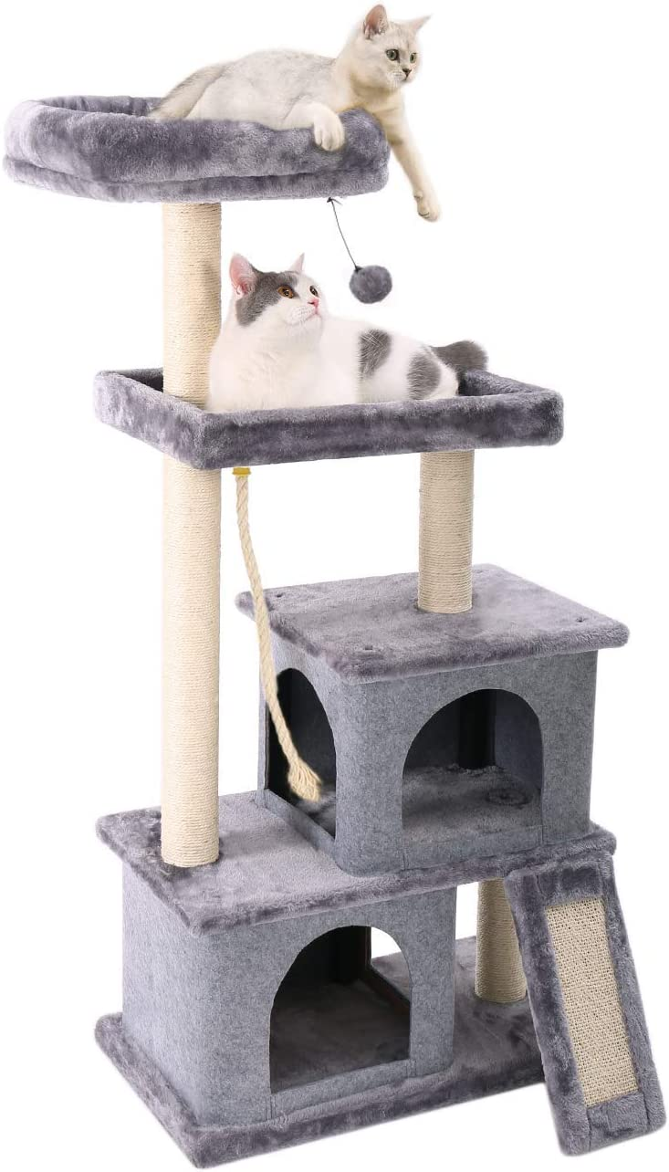Evazory Activity Center cat Tree All items in the store Over item handling with 2 perches Spacious and Plu