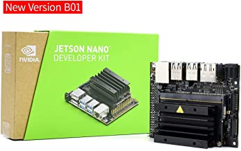 Waveshare Jetson Nano Developer Kit Small Computer for AI Development Run Multiple Neural Networks in Parallel for Image Classification Object Detection Segmentation Speech Processing