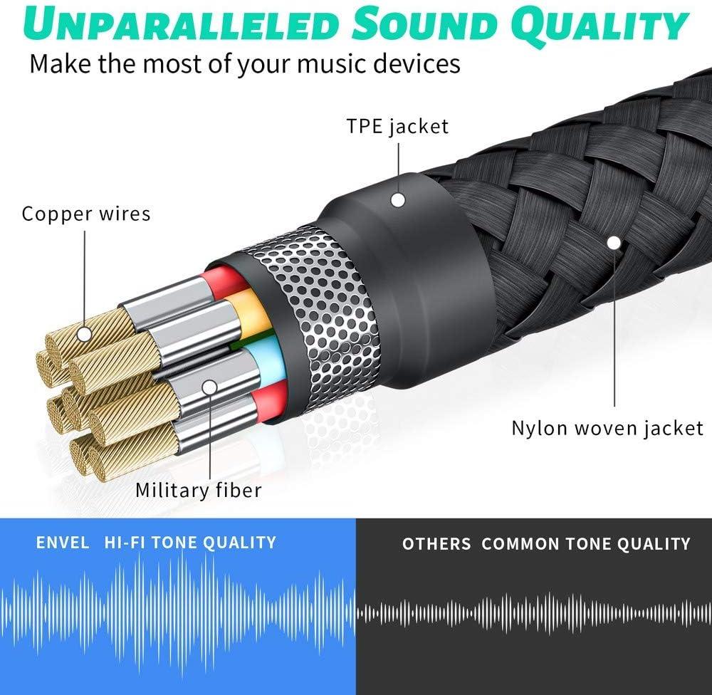 TRRS 4-poliges Mikrofon unterst/ützt USB auf Kopfh/örer-Adapter f/ür PS4 Laptop PC und mehr Silber integrierter Chip externe Stereo-Soundkarte ENVEL Headset-Adapter 3,5 mm Buchse auf USB-Stecker