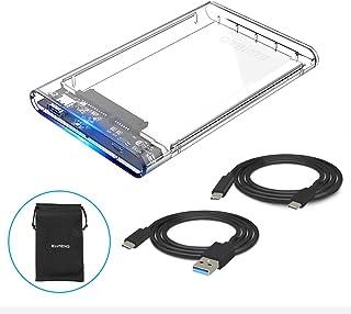 ELUTENG USB Type C接続 2.5インチ HDD SSD ケース SATA to USB3.1 GEN-1 HDDケース 外付けHDD USB3.0とUSB-Cケーブル付き ポータブル ポータブルドライブ Thunderbolt3も対応
