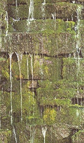 rasch Tapete 861303 aus der Kollektion b.b home passion VI – Vliestapete im Natur-Design mit moosbedeckten Steinen – 10,05m x 53cm (L x B)