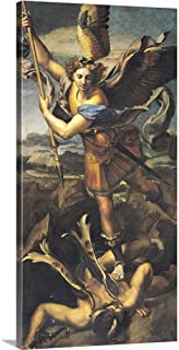 GREATBIGCANVAS Gallery-Wrapped Canvas St. Michael Overwhelming The Demon, 1518 by Raffaello S. Raphael 12