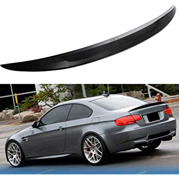 ECCPP ABS Spoiler Wing Unpainted Rear Trunk Spoiler Matte Black Exterior Accessories for BMW 335xi 3.0L 2-Door Base Coupe
