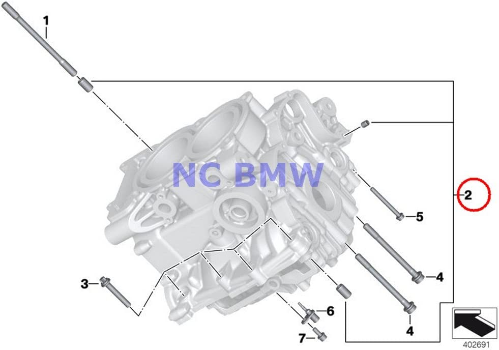 BMW Genuine Motorcycle Cylinder Head Cheap bargain Set Sleeves Selling and selling C600 Fitting Of