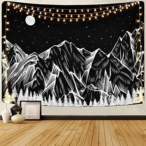 WERT Tapiz de Pared Tapiz Colgante de Bosque decoración Toalla para Colgar en el hogar Alfombra de Sol y Luna Cubierta de Cama Estera de Yoga A11 95x73cm