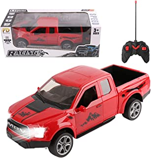 Remote Control Trucks Monster RC Car 1: 12 Scale Off Road Vehicle 2WD Pick Up Truck with Lights, Powerful RC Truck for Kids