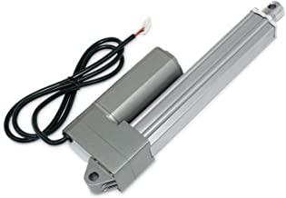 12V Industrial Linear Electric Actuator | 30 in. / 330 lbs. | Stainless Steel Rod, High Force, Brushed DC Motor, Durable S...