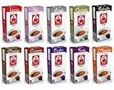 100 Nespresso Compatible Coffee Capsules Variety Pack - 10 Different Blends (New Flavors Lungo and Carioca)