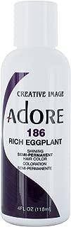 Adore Semi-Permanent Haircolor #186 Rich Eggplant 4 Ounce (118ml)