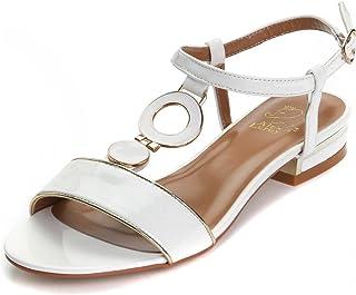 62e7137f28ce55 Alexis Leroy Chaussures avec Un Talon carré Sandales Bride arrière Femme