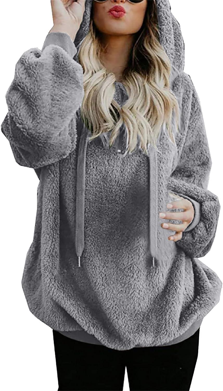 Olivcker High material Women Hooded Coat Winter Wool Zipper Jacksonville Mall Warm Pockets Cotto