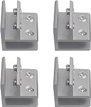 BQLZR 4x4x4cm zilver 90 graden aluminiumlegering glas klem plank ondersteuning klem voor 9-12mm dikte Pack van 4