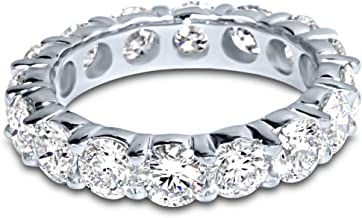 4 Carat (ctw) 14K White Gold Round Diamond Ladies Eternity Wedding Anniversary Stackable Ring Band Luxury Collection (H-I Color VS1-VS2 Clarity)