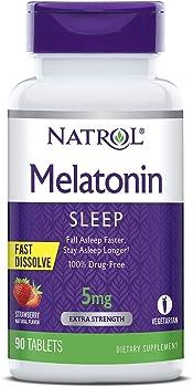 Natrol Melatonin Fast Dissolve Strawberry Tablets,…