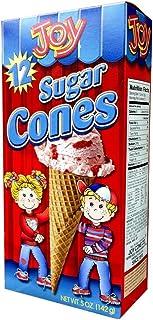 Joy Cone 12-Count SUGAR Ice Cream CONES 5oz (2 Pack) - SET OF 4