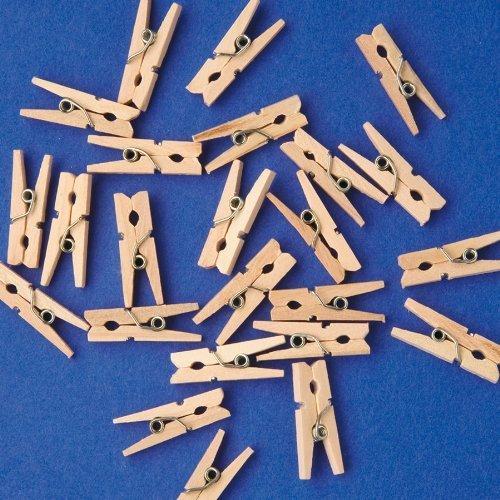Playbox PBX2470197 2470197 Wäscheklammern, 24 Stück, Durchmesser 7,4 cm, Mehrfarbig