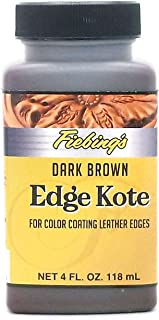 Fiebing's Edge Kote, 4 Oz. - Color Coats Leather Edges - Dark Brown