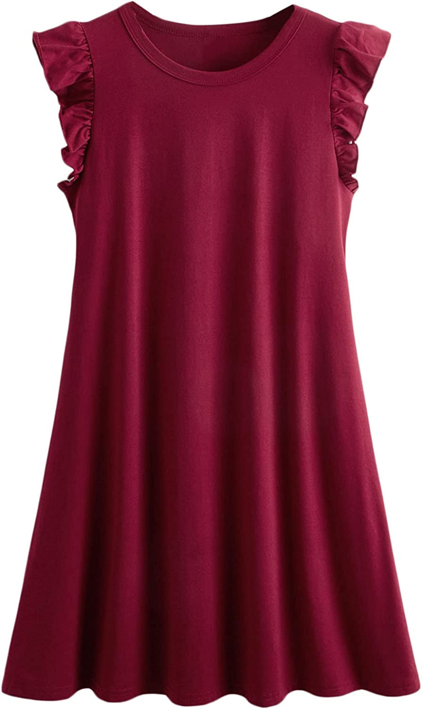 Romwe Women's Tank Dress Sleeveless Summer Loose Casual Swing T-Shirt Dresses