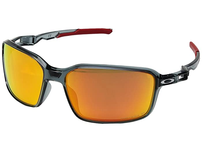 Oakley Siphon (Crystal Black/Prizm Ruby Polarized) Sport Sunglasses