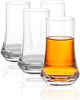 JoyJolt Cosmos Collection Crystal Shot Glass – Set of 4 Modern Shot Glasses – Tequila Shot Glasses with 2.5 Oz Capacity – ...