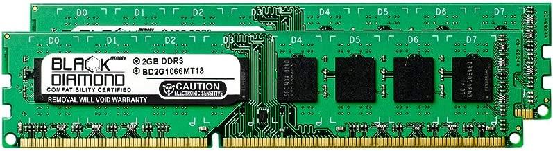 4GB 2X2GB RAM Memory for Intel Desktop Board DX38BT DDR3 DIMM 240pin PC3-8500 1066MHz Black Diamond Memory Module Upgrade