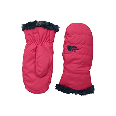 The North Face Kids Reversible Mossbud Swirl Mitt (Big Kids) (Atomic Pink/Blue Wing Teal) Extreme Cold Weather Gloves