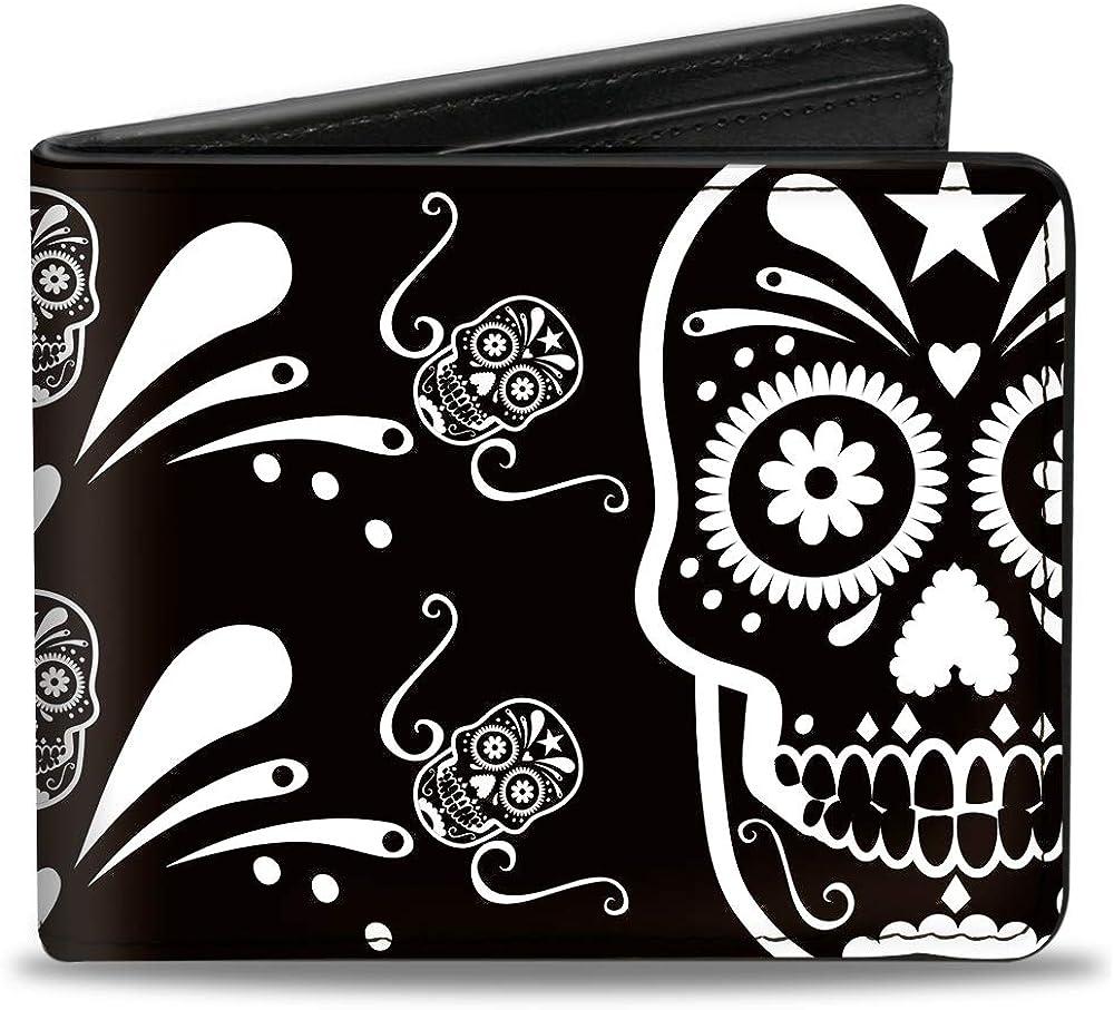 Buckle-Down Men's Standard Bifold Wallet x NEW Skulls 4.0