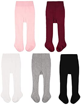 3 Pack of Baby Infant Girls Toddler Kids Cotton Fine Knit Legging Pants Tights Pantyhorse