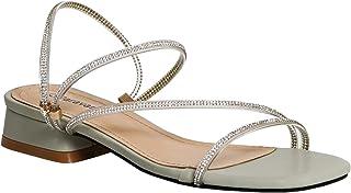 Women's Ankle Strap Open Toe Chunky Block Heels Pump Convertible Sandals