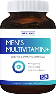 Multivitamin for Men (Non-GMO) Daily Mens Vitamins & Multimineral Plus Energy Boost, Prostate Support, Eye Health & Antiox...