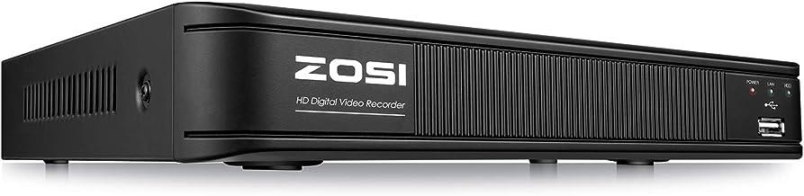 ZOSI H.265+ 1080p Lite CCTV DVR 8 Channel, Remote Access, Motion Detection, Alert Push, Hybrid Capability 4-in-1(Analog/AH...
