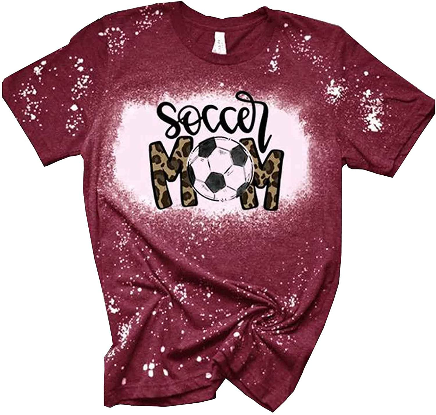 Halloween Shirts for Women Leopard Print Tops Short Sleeve Round Neck Letter Print Graphic Shirts Casual Pullover Tops