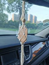 Persofine Handmade Himalayan Salt Car Rearview Mirror Pendant Car Decoration Hanging Ornaments for You