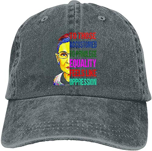 Ruth Bader Ginsburg Notorious RBG Sombrero Vintage Ajustable Gorras De Béisbol Sombrero Unisex Outdoor-Deepheather-OneSize