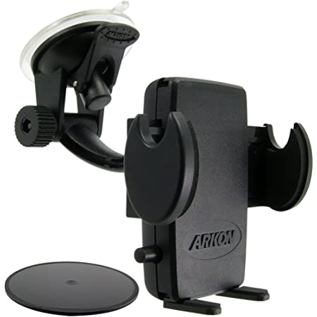 ARKON Windshield and Dash Car Phone Holder Mount for iPhone X 8 7 6S 6 Plus 8 7 6S 6 Galaxy Note Retail Black (SM415)